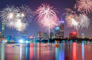 Fireworks over Boston.