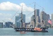 USS Constitution Turn Around in Boston Harbor