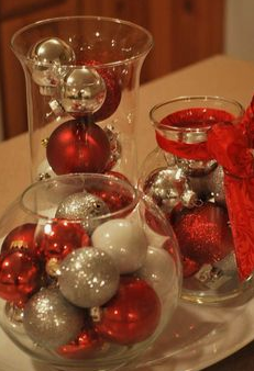 Ornaments in glass jars