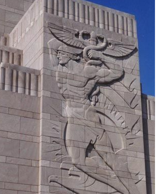 Bas-Relief sculpture by Maxfield Keck