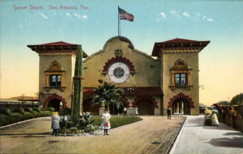 Post card image of the 1902 Station.
